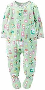 CARTER'S Girl's 24 Months Mint Green PENNY CANDY Footed Pajama Sleeper