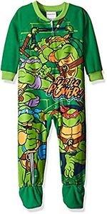 TEENAGE MUTANT NINJA TURTLES Boys 4T TURTLE POWER Fleece Pajama Sleeper