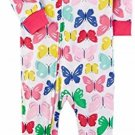 Carter's Girl's 3T Butterflies, Butterfly Cotton Footed Pajama Sleeper