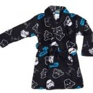STAR WARS THE FORCE TROOPER Boy's Size 5 Black Fleece Bath Robe Bathrobe