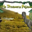 Boy's SIZE 3T OR 4T Glow-in-the-Dark 4 Piece Dino Dinosaur Pajama Set