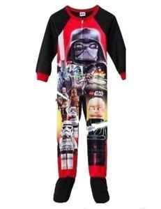 LEGO STAR WARS Boy's Size 4 Fleece Footed Pajama Sleeper