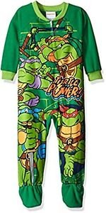 TEENAGE MUTANT NINJA TURTLES Boys 3T TURTLE POWER Fleece Pajama Sleeper