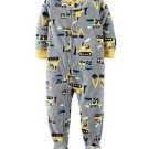 CARTER'S Boy's 3T, 4T OR 5T Construction Crane Fleece Footed Pajama Sleeper