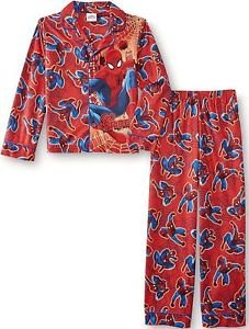 SPIDER-MAN Boy's Size 8 OR 10 GO SPIDEY Flannel Pajama Pants Set