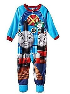Boy's 4T Thomas and Friends Fleece Footed Blanket Pajama Sleeper