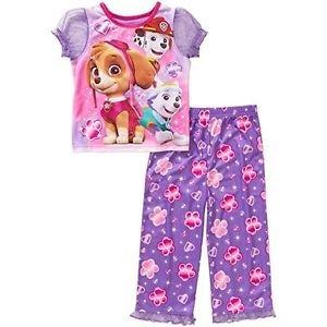 PAW PATROL Girl's Size 4T OR 5T SKYE, MARSHALL EVEREST Pajama Pants Set �