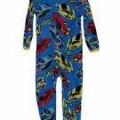 Toddler Boy's 3T OR 4T Race Cars Vehicles Fleece Footed Blanket Pajama Sleeper