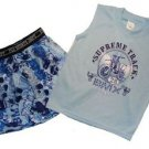 THE CHILDREN'S PLACE Boy's Size 2/3 BMX Racing Bike Pajama Shorts Set