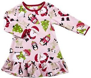 Carter's Girl's Size 3T Fleece Santa Christmas Themed Nightgown, Gown