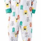 Carter's Boy's Size 3T Fleece Monster Pajama Blanket Sleeper, PJ'S