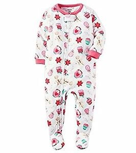 CARTER'S Girl's 3T, 4T OR 5T Christmas Cookies Fleece Footed Pajama Sleeper