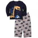 CARTER'S Boy's 6 Months Diggin' It Construction Polyester Pajama Set