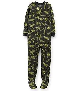CARTER'S Boy's Size 4 OR 5 Outer Space Station Fleece Footed Pajama Sleeper
