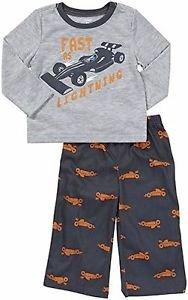 CARTER'S Boy's 3T Fast As Lightning Race Drag Car Jersey Pajama Set
