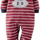 Carter's Boy's Size 4 Football Champ Fleece Footed Pajama Sleeper