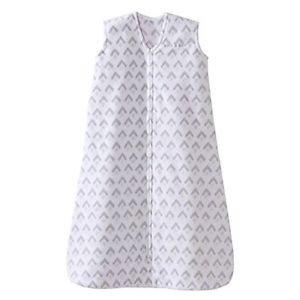 HALO Girl's, Boy's Aztec Gray Fleece Baby Sleepsack, Wearable Blanket, Medium
