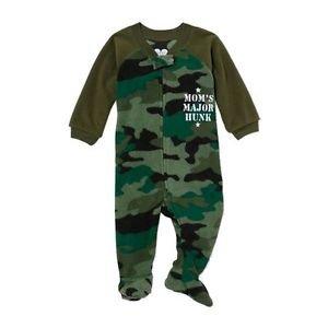 Toddler Boy's 3T Camo Army Mom's Major Hunk Footed Blanket Pajama Sleeper