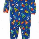 Boy's Size 3T OR 4T Fleece Footed Blanket Pajama Sleeper, Space, Astronaut