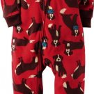 CARTER'S Boy's Size 4 OR 7 ST. BERNARD Fleece Footed Pajama Sleeper