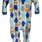 Carter's Boy's 5T Alien Monsters Fleece Footed Pajama Sleeper