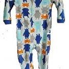 Carter's Boy's 5T Alien Monsters Fleece Footed Pajama Sleeper
