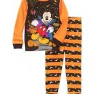 Disney Mickey Mouse Size 3T, 4T OR 5T Glow-in-The-Dark Halloween Pajama Set