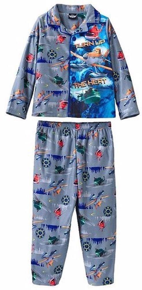 Disney Planes Dusty, Windlifter, Blade Boy's 3T Gray Flannel Coat Pajama Set