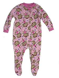 MON PETIT Girl's 24 Months Pink Fleece Footed Pajama Sleeper