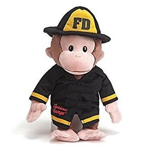 GUND Classic Children's Monkey Curious George as Fireman, 13""