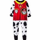 PAW PATROL Boys 3T, 4T, 5T Fire Dog MARSHALL Fleece Footed Pajama Sleeper