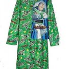 DISNEY TOY STORY BUZZ LIGHTYEAR Size 8 Flannel Coat Pajama Pj Set