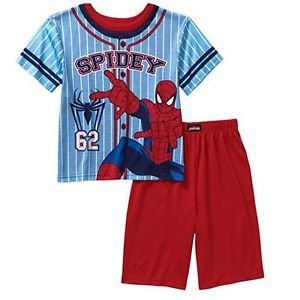 Marvel Boy's SIze 8 Spider-Man, SPIDERMAN Pajama Shorts Set, PJ'S