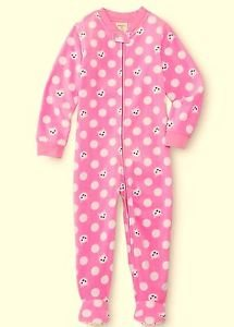 WONDER KIDS Girl's Size 4T Pink Kitty Cat Fleece Footed Blanket Pajama Sleeper