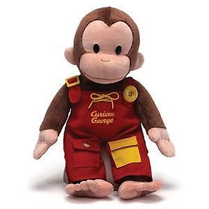 GUND Classic Children's Monkey Curious George Teach Me, Learning 16""
