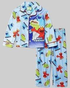 SESAME STREET BEST FRIENDS ELMO COOKIE, OSCAR Size 4T Pajama Set