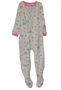 Carter's Girl's Size 4T Desserts, Sweets Fleece Footed Pajama Sleeper