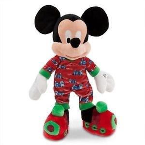 "MICKEY MOUSE In Train Pajama Slippers PLUSH 16"" GENUINE ORIGINAL DISNEY STORE"