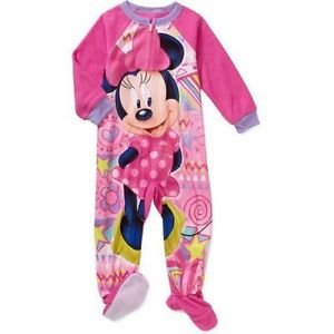 Minnie Mouse Girl's 3T, 4T OR 5T Fleece Footed Blanket Pajama Sleeper, PJ'S