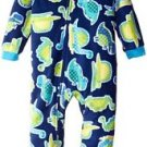 PEAS AND CARROTS Boy's 3T OR 4T Fleece Footed Dinosaur Dino Pajama Sleeper