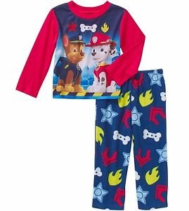 PAW PATROL MARSHALL And CHASE 24 Months Jersey Pajama Top and Fleece Pj Pants