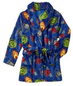 MARVEL Boy's 6/7, 8 OR 10/12 Avengers Hulk, Ironman, Fleece Bathrobe Robe