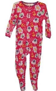 Girl's 24 Months Pink Fleece Footed Pajama Sleeper, Sweet Dreams Treats