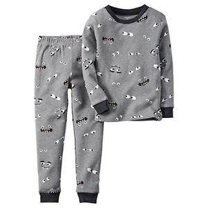CARTER'S Boy's Size 3T, 4T OR 5T Halloween Monster Glow Dark Eyes Pajama Set