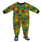 CARTER'S SUPER-COMFY Toddler Boy's 3T Fleece Monster Footed Pajama Sleeper
