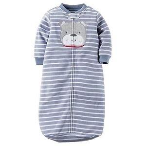 Baby Boy's 0-9 Months Striped Puppy Dog Fleece Sleepsack, Sleeper