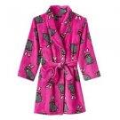 Cuddl Duds Cuddle Girl's 6/6X Plush Fleece Pink Bunny Bathrobe Rabbit Robe