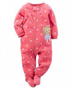 Toddler Girl's 3T, 4T OR 5T Pink Ballerina Monkey Fleece Footed Blanket Pajama