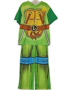 TEENAGE MUTANT NINJA TURTLES Size 8 OR 10 LEONARDO Caped Costume Pajama Set