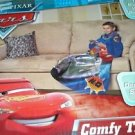 DISNEY PIXAR CARS LIGHTNING MCQUEEN COMFY THROW Fleece Sleeved Blanket, NEW